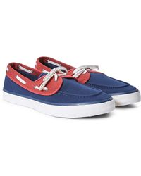 Sperry Top-Sider - Casual Canvas 2 Eye Boat Shoe Navy & Red - Lyst