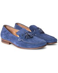 Hudson Jeans - Bernini Suede Loafer Blue - Lyst