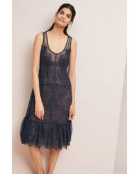 Byron Lars Beauty Mark - Lace Slip Dress - Lyst