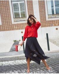 The Kooples - Asymmetrical Long Skirt - Lyst