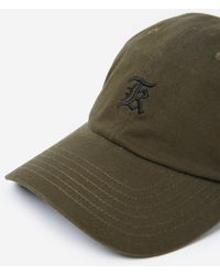 The Kooples - Khaki Cotton Cap With Embroidered Gothic Logo - Lyst