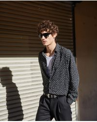 The Kooples Relaxed-fit Shirt With Classic Collar, Lyocell Squares And Polka Dots