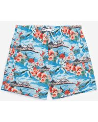 2fcfc79a7e The Kooples - Floral Swim Shorts With Back Pocket - Lyst