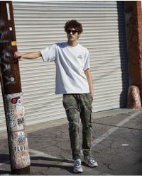 The Kooples - Camouflage-print, Japanese Denim Jeans Inspired By Cargo-style joggers - Lyst