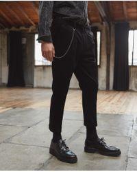 The Kooples - Black Ribbed Velvet Trousers - Lyst