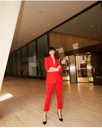 The Kooples Fließende rote kostümhose aus krepp