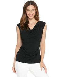 The Limited - Ruched Cowl Neck Top - Lyst