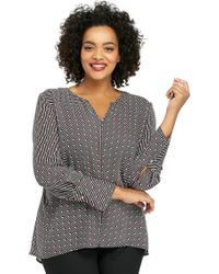 The Limited - Plus Size High Low Blouse - Lyst