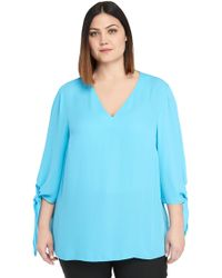 f89862d3e5f The Limited - Plus Size Tie Sleeve V-neck Blouse - Lyst