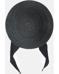 Clyde - Medium Brim Flat Top Hat With Shade - Lyst