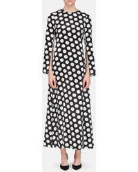 CALVIN KLEIN 205W39NYC - Koko Polka-dot Satin Maxi Dress - Lyst