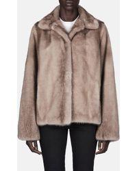 Pologeorgis - Shirt Collar Mink Jacket - Lyst