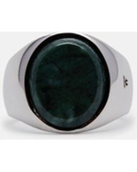 Tom Wood - Oval Green Marble Ring - Lyst