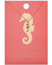 Orelia - Seahorse Ditsy Necklace - Lyst
