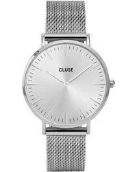 Cluse - La Boheme Mesh Full Silver - Lyst