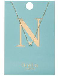 Orelia - Necklace Initial N - Lyst