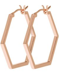 Cluse - Essentiele Hexagonal Hoop Earrings - Lyst