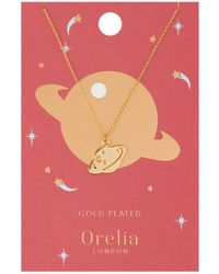 Orelia - Planet Charm Necklace - Lyst