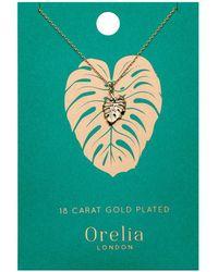 Orelia - Palm Leaf Ditsy Necklace - Lyst