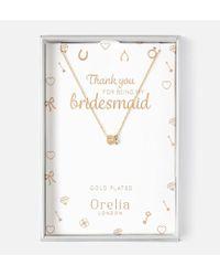 Orelia - Thankyou Bridesmaid Horseshoe And Stone Giftbox - Lyst