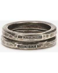Ann Demeulemeester - Plain Silver Ring (set Of 2) - Lyst