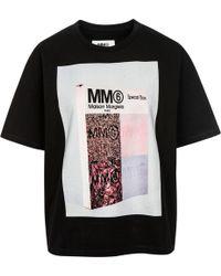MM6 by Maison Martin Margiela - Mm6 Printed Short Sleeve T-shirt - Lyst