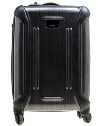 Tumi - Grey Graphic Print Polycarbonate Carry On Luggage 50 - Lyst