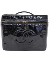 Chanel - Patent Leather Vanity Bag - Lyst
