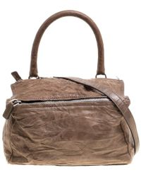 Givenchy - Brown Leather Medium Pandora Crossbody Bag - Lyst