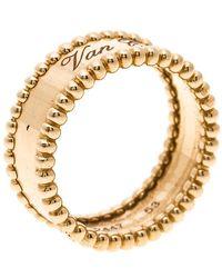 Van Cleef & Arpels - Perlee Signature Rose Gold Ring - Lyst