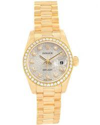 Rolex - Jubilee 18k Yellow Gold Diamond President Datejust Women's Wristwatch 26mm - Lyst