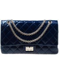 523d808d7cd17d Chanel Denim Reissue 2.55 Classic 226 Flap Bag in Blue - Lyst