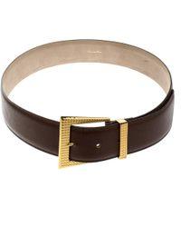 Dior - Textured Leather Belt 85 Cm - Lyst