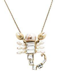 Dior - Gold Tone Crystal Christian Me Zodiac Scorpion Pendant Necklace - Lyst