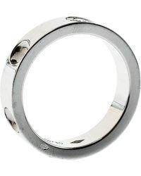 Louis Vuitton - Empreinte Diamond 18k White Gold Band Ring - Lyst