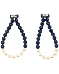 3e18fd0af Givenchy Swarovski Crystal Pavé Magnetic Earrings in Metallic - Lyst
