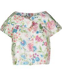 Dior - Floral Printed Cropped Short Sleeve Jacket M - Lyst