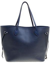 Louis Vuitton - Blue Marine Epi Leather Neverfull Mm Bag - Lyst
