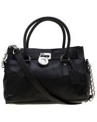 4136055f6e91d4 MICHAEL Michael Kors Hamilton Large Textured-Leather Shoulder Bag in ...