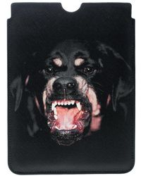 Givenchy - Black Coated Canvas Rottweiler Ipad Mini Case - Lyst