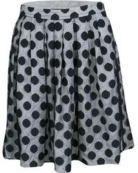 Boutique Moschino - Monochrome Polka Dot Tulle Mini Skirt S - Lyst