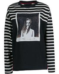 Marc By Marc Jacobs - Monochrome Striped Dreamy Rhea Print Sweatshirt L - Lyst