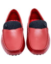 Tod's - Leather Ferrari Gommino Loafers - Lyst