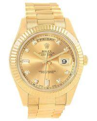 Rolex - Champagne 18k Yellow Day-date Ii Men's Wristwatch 41mm - Lyst