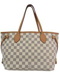 Louis Vuitton - Damier Azur Canvas Neverfull Pm Bag - Lyst