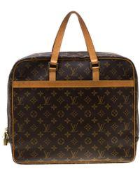 Louis Vuitton Monogram Canvas Porte Documents Pegase Soft Briefcase Bag - Brown