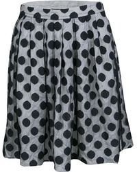 Boutique Moschino - Monochrome Polka Dot Tulle Mini Skirt M - Lyst