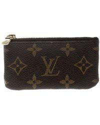 Louis Vuitton - Monogram Canvas Key Pouch - Lyst