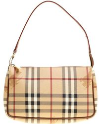 Lyst - Burberry Small Canterbury Haymarket Pvc Bag in Natural d38f690482647