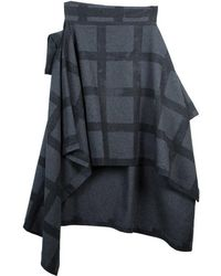 Vivienne Westwood - Anglomania Gaia Plaid Wool Cape Coat S - Lyst